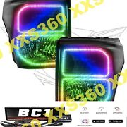 Oracle Halo Headlights Black For Ford F250/f350 11-16 Colorshift Bluetooth Bc1