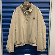 Polo Golf Pullover Jacket Men Sz Xlarge Tan 3 Button Thriftthis