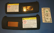 2003 Audi Tt Convertible Sun Visors With Mirrors Left And Right Fits 2000 To 2006