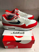 Nike Air Max 1 Usa Quick Strike Betsy Ross Flag 4th Of July Cj4283-100 Size 7.5