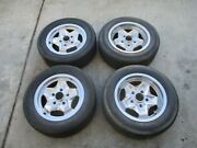Four Porsche 15 X 6 And 7 Polished Cookie Cutter Wheels And Tires 205-60-15 Used