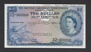 British Caribbean Territories 2 Dollars 3-1-1956 P8bs Specimen Uncirculated