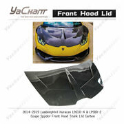 Carbon For 14-19 Huracan Lp610-4andlp580-2 Coupe Spyder Front Hood Trunk Lid Cover