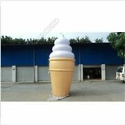4m Inflatable Lighted Ice Cream Balloon Advertising With Blower New Zh