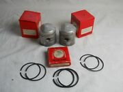 Honda Nos Cb72 Cl72 Pistons And Rings 0.75 Set Of Two 13104-268-030. H25