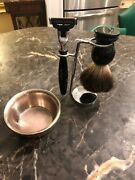 Shaving Collectible Stand And Brush