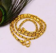 22kt Yellow Gold Fabulous Baht Chain 22 Necklace 91.6 Gold Unisex Gifts Ch211