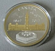 1867-2017 Centennial Flame Parliament 50 Silver Proof Canada Puzzle Piece Coin