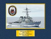Uss Decatur Ddg-73 Custom Personalized Print Of Us Navy Gift Idea