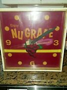 Vintage Nugrape Soda Lighted Clock As Is Parts Only