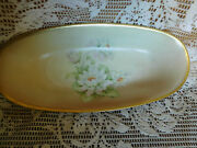 Antique J.s Germany Hand Painted Celery / Pickle Dish 12 Vg Free Ship