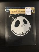 The Nightmare Before Christmas Glow In The Dark Steelbook Blu-ray New Sold Out