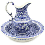 Coimbra Ceramics Hand-painted Wash Basin With Pitcher 109-2