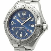 Breitling Super Ocean Navy Blue Dial A17340 Automatic Watch Used Ex++