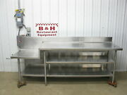 8' 1 Heavy Duty Stainless Steel Kitchen Work Prep Table Mixer Kettle Stand