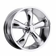 Five 5 20x8.5 American Muscle 142 Legend 5 Et -6 Chrome 5x127 5x5 Wheels Rim