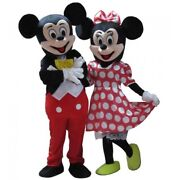 Mickey And Minnie Mouse Mascot Costume Adult Halloween Birthday Party Disney Girl