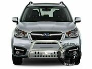 Black Horse Bull Bar Bumper Grille Guards Stainless Fits 14-18 Subaru Forester