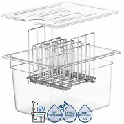 Sv - Sous Vide Cooker Complete Set With Container Lid And Rack Andndash Crystal Clea...