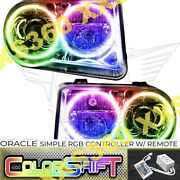 Oracle Halo Headlights Hid For Chrysler 300 300c V8 05-10 Led Colorshift Simple