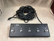 Hughes And Kettner 5 Button Foot Switch Model Fb-5 9 Pin 30 Ft Cord Ships Free