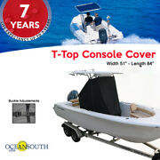 Oceansouth Center Console T-top Cover Black Size Extra Large