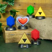 Nintendo The Legend Of Zelda 3d Collectible Mini Icon Led Lamp Lights - New