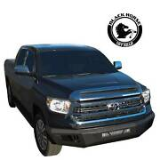 Black Horse Armour Heavy Duty Front Bumper Matte Black Fit 14-21 Toyota Tundra