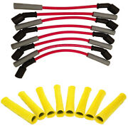 Hinson Red Truck/suv Performance Spark Plug Wire Set With Yellow Heat Boots