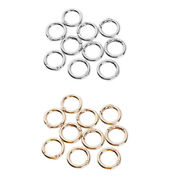 10pc Round Carabiner Spring Key Ring Bucklespring Snap Hooks Clip For Purse