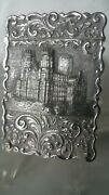 Stunning Antique Silver Castle Top Card Case Westminster Abbey 1850