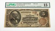 1882 5 Fr 467 National Currency Merchants Nb Ch 1131 Graded By Pmg As Fine 15