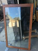 """4 Vintage Large Oak Cabinet Doors Salvaged Country Store Fixtures 57.5"""" X 34.5"""""""
