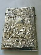 Stunning Antique Chinese Export Silver Card Case Probably Luen Woo Of Shanghai
