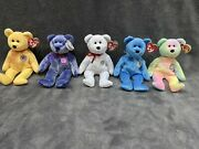 Authentic Ty Beanie Babies - Sunny Periwinkle Decade Classy And B.b. Bear