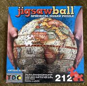 Tdc Games Jigsaw Ball Spherical Antique 9 3d Globe Puzzle 212 Pieces New