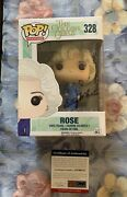 Betty White Signed Autographed Funko Pop Rose Golden Girls Psa/dna Small Ding