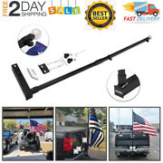 Flag Pole Holder For Trucks Mounts To 2 Hitch Receivers Camper Truck Car Atv