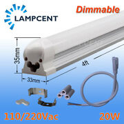 15-100/pack Dimmable T8 Led Shop Light 4and039 Linkable Ceiling Tube Fixture Daylight