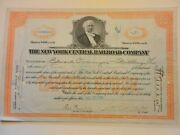 New York Central Railroad Company - 5 Shares Stock Certificate 1950
