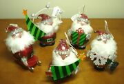 Department 56 Christmas Holiday Ornaments, 5 Santa Claus, New With Tags
