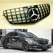 Front Grille Gt Type For Benz E-class 2010-2013 W212 Shiny Black Sedan / Wagon