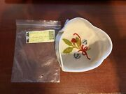 2012 Tree Trimming Little Drum Basket Liner Only Longaberger - Flax Embroidered