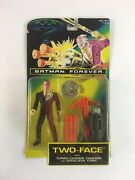 Batman Forever Two-face 1995 Kenner Action Figure Turbo Charge Cannon And Coin Nib