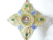 ✝ Reliquary Relic D.n.j.c. Ex- Coronae From The Crown Of Our Lord Jesus Christ