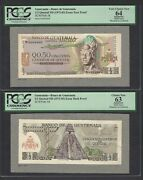 Guatemala Face And Back 1/2 Quetzal Nd1972-83 P58 Essay Proof Specimen Unc