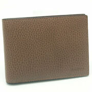 Auth Outlet Bifold Wallet Brown Leather 278596 Free Shipping 12566