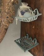 Antique Metal Soap Dishes 2