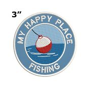 Girl Boy Cub Fishing Bobber Trip Day Fun Patches Crest Badges Scout Guide Fish