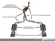 Awe Touring Edition Exhaust Quad Tip Polished Silver Tips For Audi B8 A4 2.0t